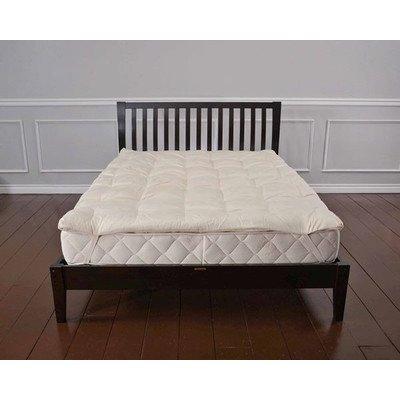 """1.5"""" Organic Wool Mattress Pad Size: Twin front-918431"""