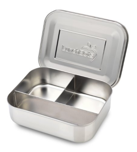 LunchBots Trio Stainless Steel Food Container, Stainless Steel
