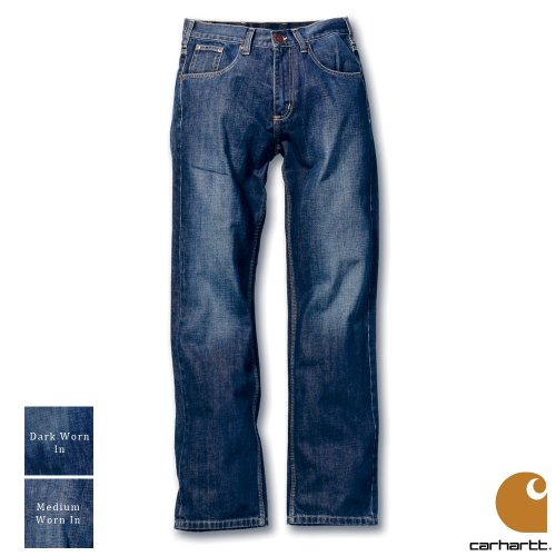 Carhartt Workwear Regular Mens Jeans Medium Warn In Waist 30 Inch - Leg 32 Inch