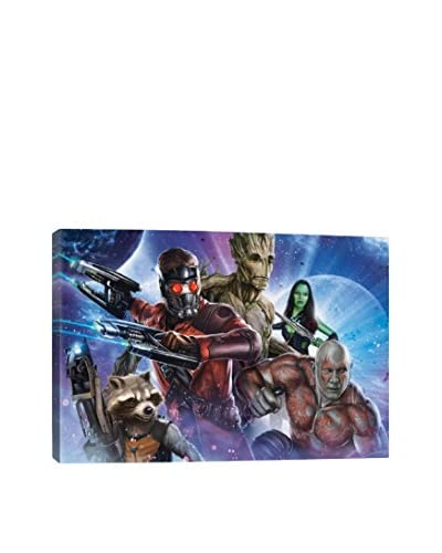 Guardians of The Galaxy Movie Poster III Gallery-Wrapped Canvas Print