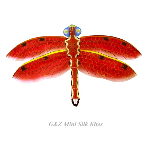 Mini Red Silk Dragonfly Kite with Gift Box