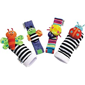 Lamaze Garden Bug Wrist Rattle/Foot Finder Set: Baby