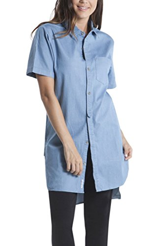 Publish-Brand-Womens-Sybil-Shirt-Dress-Light-Blue-XS
