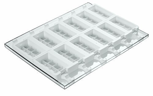 Paderno World Cuisine Ice Cream Molds, Tray And 50 Sticks, Rectangular Shaped, Set Of 2 By World Cuisine