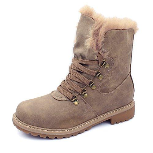 best-boots-neu-damen-stiefelette-winter-stiefel-benkeyb-mevina-khaki-1439-grosse-39