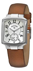 Philip Stein Women's 21-FMOP-IBZ Classic Bronze Silk on Leather Strap Watch