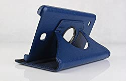 Best Deals - Premium Quality Leather Rotable Flip Stand Cover Case for Samsung Galaxy Tab4 7 inch T230/T231 BLUE