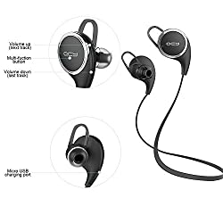 Bluetooth Headphones Qy8 CSBROTHER V4.1 Wireless Stereo Bluetooth Headsets with Mic for running In-Ear Noise Cancelling Sweatproof Sport Earbuds Headphones for iPhone,iPad and Android