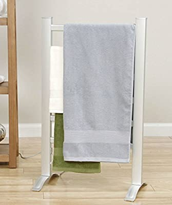 Towel Warmer Bathroom Accessories Rack For Delicates,Dish Towels,Mats,Blankets And Eliminates Mold And Mildew Growth-Freestand Or Wall Mounted