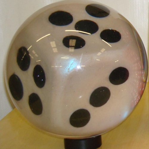 Clear Dice Bowling Ball (15lbs)