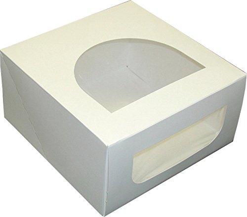 Georgia-Pacific Dixie PL8X8X4 Plain Round Windowed Cake Box, 8