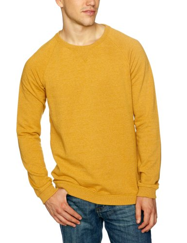 Selected Homme Jeans Louis Crew Neck Sweat C Men's Jumper Golde Yellow Melange Small
