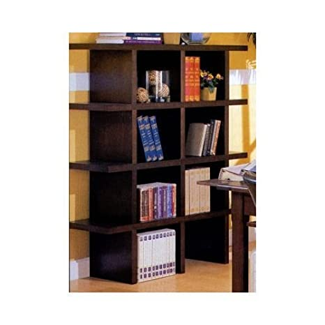 Wood Grain Finish Stackable Bookcase Full Unit (4