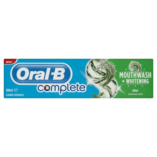 Oral-B Complete Mouthwash & Whitening Toothpaste 100ml (Pack of 4)