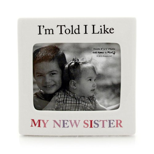 Enesco Our Name Is Mud By Lorrie Veasey New Sister Frame front-896255
