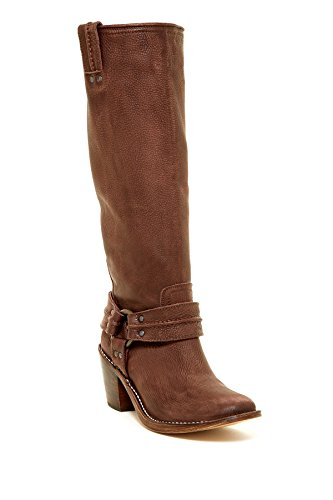 FRYE Women's Carmen Harness Tall Boot, Dark Brown, 6 M US (Frye Carmen Harness Tall compare prices)