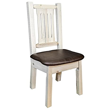 Homestead Side Chair with Upholstered Saddle Pattern Seat