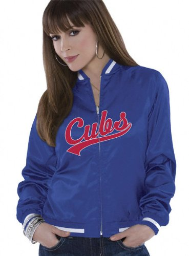 Chicago Cubs Women's Reversible Satin Jacket - by Alyssa Milano at Amazon.com