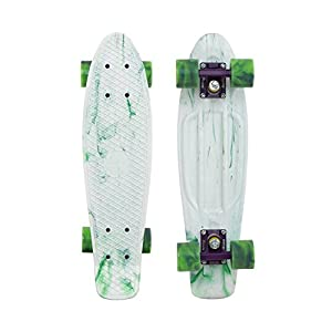 "Penny Limited Edition Plastic Skateboard Marble White/Purple/Green Swirl 22"" by Penny Skateboards"