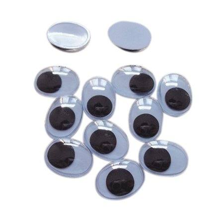 13mm Oval Googly Wiggle Eyes Color Options