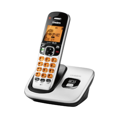 D1760 DECT 6.0 Expandable Cordless Phone with Caller ID, Silver, 1 Handset