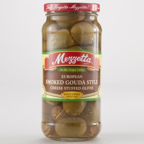 Mezzetta Smoked Gouda Stuffed Olives 9.5 oz. (Pack of 6)