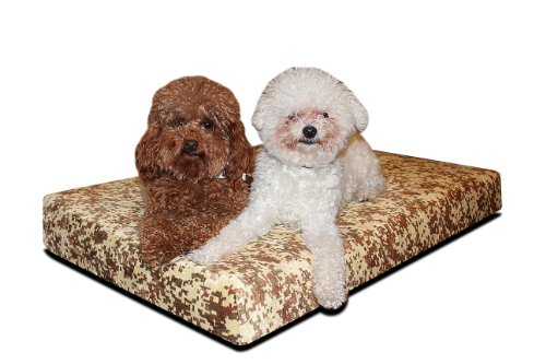 Brentwood Gel Memory Foam Orthopedic 46 By 29-Inch Dog Bed, Large, Camouflage front-954772