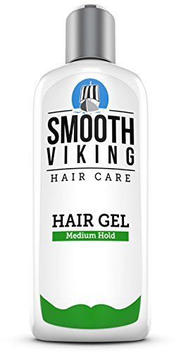 Medium Hold Hair Gel for Men - Best Styling Gel for Short, Long, Thin and Curly Hair - Great for Modern, Messy, Wet and Dapper Styles - With Natural and Organic Ingredients - 8 OZ - Smooth Viking by Smooth Viking