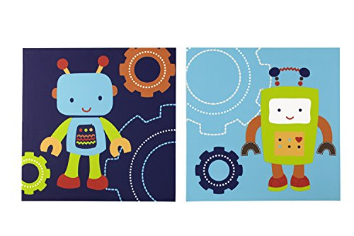 NoJo Baby Bots Canvas Wall Decor