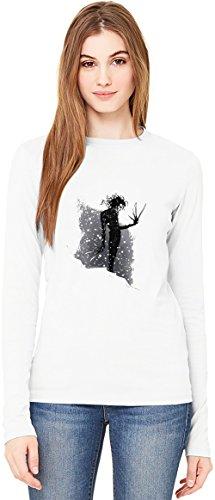 Love edward scissorhands T-Shirt da Donna a Maniche Lunghe Long-Sleeve T-shirt For Women| 100% Premium Cotton Ultimate Comfort Small