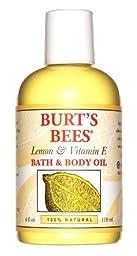 Burt\'s Bees: Lemon & Vitamin E Bath & Body Oil, 4 oz