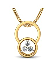 BlueStone 18K Yellow Gold Diamond Pendant - B00NHNTCWE