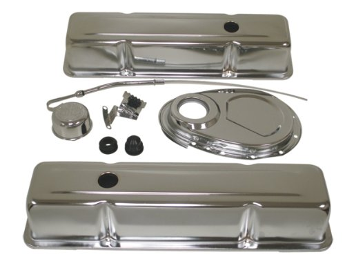 1958-86 Chevy Small Block 283-305-327-350 Steel (Tall) Engine Dress Up Kit - Chrome1958-86 Chevy Small Block 283-305-327-350 Steel (Tall) Engine Dress Up Kit - Chrome