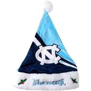 NCAA Swoop Logo Santa Hat NCAA Team: University of North Carolina Tarheels by Forever Collectibles