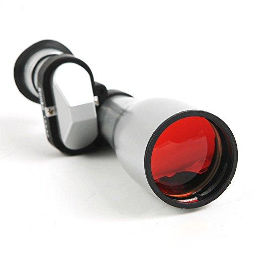 15x-32x Compact Silver Monocular Adjustable Telescope Focus Outdoor Hunt Hike Silver