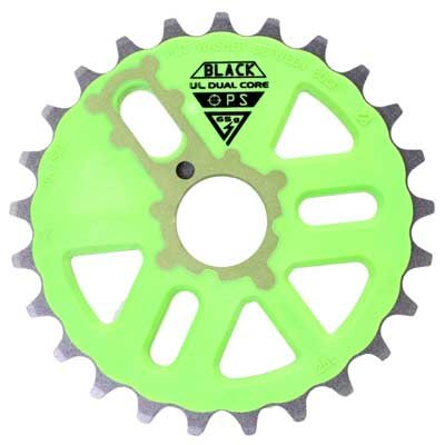 Black Ops Dual Core UL Chainring 25T Green/Gray