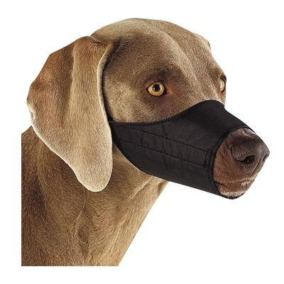 Guardian Gear Lined Nylon Dog Muzzle, 5-Inch Snout, Size 1, Black