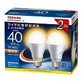 東芝 E-CORE(イー・コア) LED電球 一般電球形 6.6W (光が広がるタイプ・白熱電球40W相当・485ルーメン・電球色) 2個パック LDA7L-G-K/40W-2P