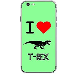 Skin4gadgets I love T-Rex Colour - Light green Phone Skin for IPHONE 6 PLUS