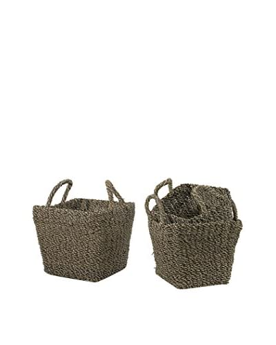 Go Home Set of 3 Seagrass Baskets, Light Brown