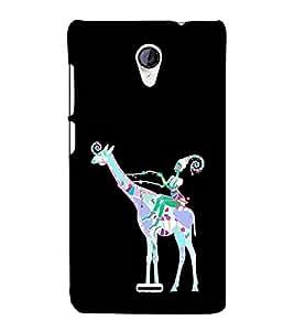 EPICCASE girl riding giraffe Mobile Back Case Cover For Micromax Unite 2 A106 (Designer Case)