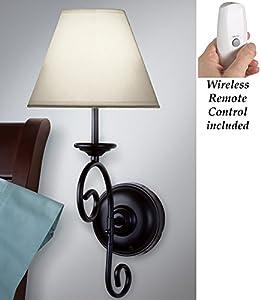 Led Remote Control Vintage Wall Sconce Light Amazon Com