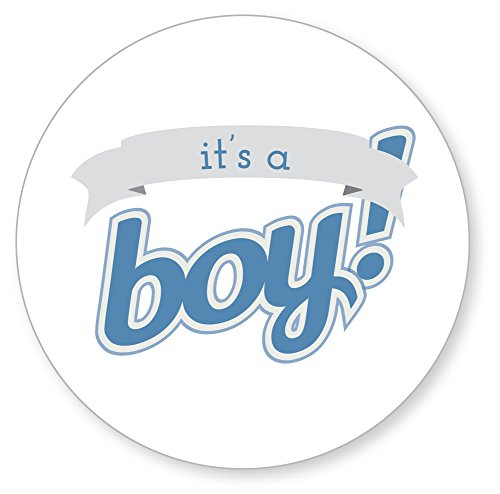 126 It'S A Boy Stickers For Baby Showers, 1 Inch, High Gloss And Quality White Labels front-175736