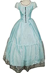 Firecos Tim Burton's Alice In Wonderland Alice Blue Dress Halloween Costume