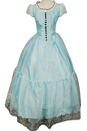 Firecos Tim Burton's Alice In Wonderland Alice Blue Dress Halloween Costume
