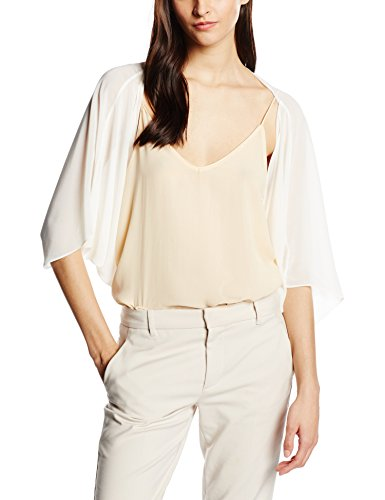 ESPRIT Collection fließende Chiffon Qualität Cappotto, Donna, Bianco (Off White 110), 44