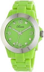 "Breda Women's 7208-green ""Tara"" Trendy Plastic Band Watch"