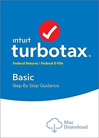 TurboTax Basic 2016 Tax Software Federal + Fed Efile Mac download