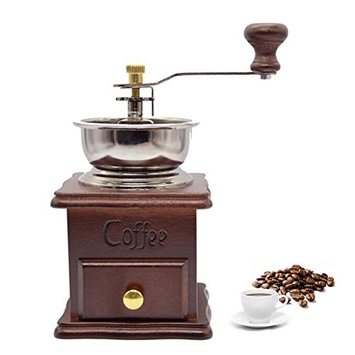 XHSP Vintage Mini Manual Coffee Grinder Wooden Hand Coffee Mill Herbal Medicine Grinding Machine 0