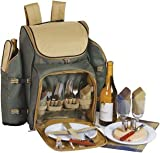 Search : Tandoor 4 Person Deluxe Picnic Backpack w Insulation